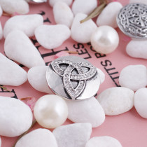 20MM snap triangle with white rhinestone KC5107 interchangable snaps jewelry