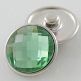 18MM complemento de aleación de cristal verde facetado KB2701-AJ broches intercambiables