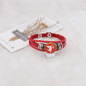 20MM Valentin métal émaillé peint C5624 imprimé rouge