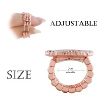 snaps adjustable Rose Gold Ring fit 20mm snap chunks size 2cm