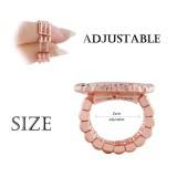 ajusta el anillo de oro rosa ajustable en forma de trozos 20mm tamaño 2cm
