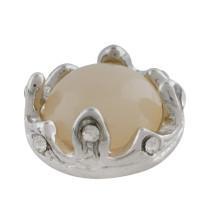 12MM Crown Snap Splitter Überzogen mit hellgelber Perle KS9706-S Snaps Schmuck