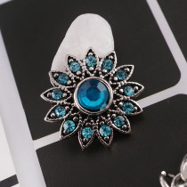 16MM snaps chunks Cyan rhinestone interchangeable jewelry