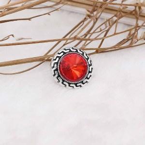 20MM оснастка Jul. Камень рождения красный KC6580 сменные защелки ювелирные изделия