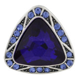 20MM Triangle snap Antique Silver Plated with blue rhinestone KB8184 snaps jewelry