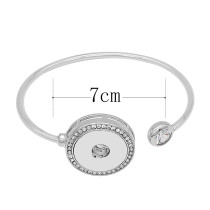 1 buttons snap sliver bracelet fit 20MM snaps jewelry KC0866