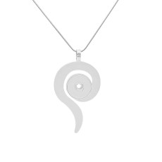 Pendant sliver Necklace with 46CM chain KC1091 snaps jewelry