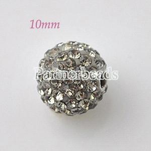 10*10mm Gray Rhinestone beads