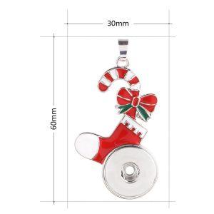 Colgante navideño de collar sin cadena KC0379 encaja broches estilo 18 / 20mm broches joyería