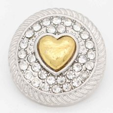 20MM snap Love sliver Plaqué de strass KC6724 s'encliquette des bijoux