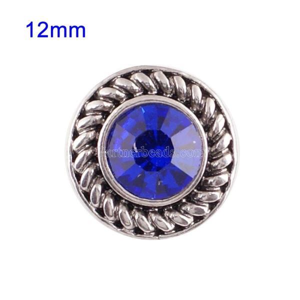 Broches 12mm de tamaño pequeño con diamantes de imitación azules para joyas en trozos
