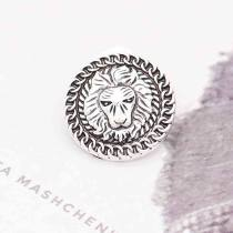 20MM lion snap Silver Plated KC6855 snaps jewelry