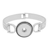Mancha retro de broches de plata Brazalete con incrustaciones de diamantes en forma KC0812 encaja trozos