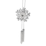 Pendant Rhinestone Necklace with 80CM chain KC1015 fit 18&20MM chunks snaps jewelry
