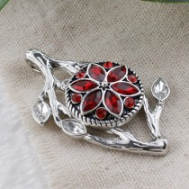 20MM design snap Antique silver plated with red Rhinestone KC7479 interchangeable snaps jewelry