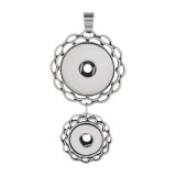 2 buttons Pendant of necklace without chain snaps style fit 12&20mm chunks jewelry