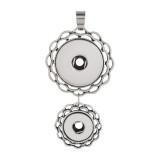 Boutons 2 Pendentif de collier sans chaîne s'enclenchent style convient 12 & 20mm chunks jewelry