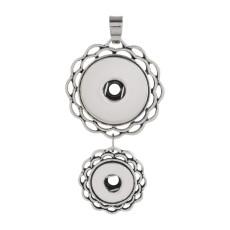 2-Knöpfe Anhänger der Halskette ohne Kette schnappt Stil passen 12 & 20mm Stücke Schmuck