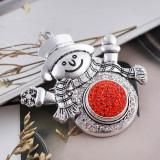18mm Sugar Snaps Alloy mit orangefarbenen Strasssteinen KB2316 Snaps Jewelry