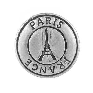 12MM Torre Eiffel chapado en plata KB5533-S broches de joyería