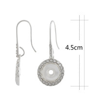Snap-Sliver-Ohrring mit Strass-Passform 12MM Snaps-Schmuck KS1202-S