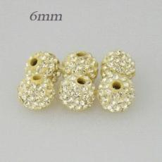 6mm Yellow STELLUX Austrian crystal ball beads
