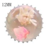 15MM Глянцевые сферические сухие цветы с защелкой 12MM маленькая система KS7026-S защелкивается ювелирные изделия