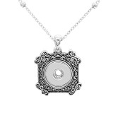 Pendant Necklace with 46CM chain KC1083 fit 20MM chunks snaps jewelry