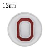 Sportfußball-Faserband Mit weißer Emaille beschichtet KS6324-S Durchmesser 12MM