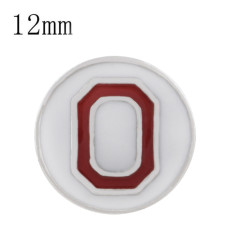 Ruban de football sportif Plaqué émail blanc KS6324-S Diameter 12MM