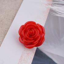 18MM fleur bouton pression alliage résine rouge KB2294 s'enclenche bijoux