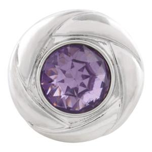 20MM snap Jun. birthstone light purple KC5680 interchangable snaps jewelry