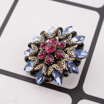 20MM design snap plaqué or avec strass rose-rouge KC8946 snaps bijoux