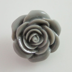 18MM Flower snap Alloy gray resin KB2272 interchangeable snaps jewelry