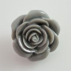 18MM Flower snap Alliage gris résine KB2272 interchangeable snaps bijoux