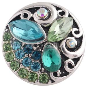 20MM design snap with green Rhinestone KC8735