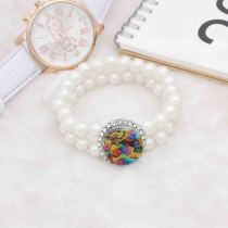 20MM Peint Fleur émail métal C5799 impression snaps bijoux Multicolore