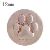 12MM Dog claws snap Rose Gold Plated  KS5213-S interchangeable snaps jewelry