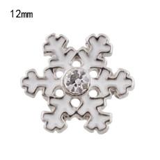 12mm Christmas snowflake Broches de tamaño pequeño para joyas en trozos