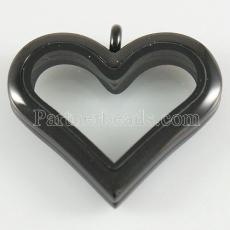 Heart Stainless steel floating charm locket can open
