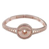 1 кнопка металлические браслеты из розового золота подходят 20MM защелки куски KC0762