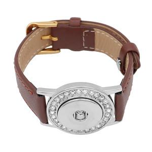 Botones 1 Marrón Cuero genuino KC0878 Las pulseras de reloj se ajustan a los trozos de broches 20MM