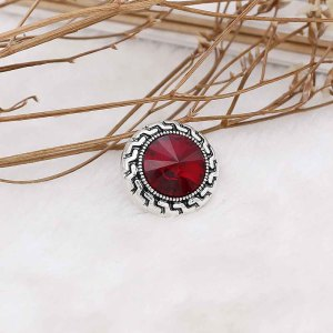 20MM snap Jan. birthstone deep red KC6574 interchangable snaps jewelry