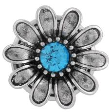boutons pression Style JewelPops chunks bleu