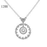 Collar colgante con cadena 45CM KS1247-S fit 12MM trozos broches joyería
