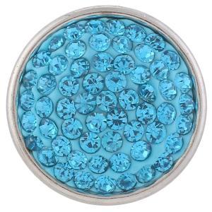 18mm Sugar snaps Alloy with light blue rhinestones KB2310 snaps jewelry