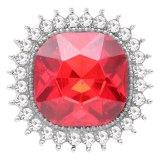 Diseño 20MM chapado en plata con diamantes de imitación rojos KC6775 broches de joyería