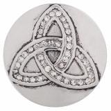 20MM Zap triangle avec strass blanc KC5107 snaps interchangeables bijoux