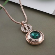20MM round snap Rose-Gold Plated with green Rhinestone KC9762 snaps jewelry