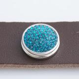 18mm Sugar Snaps Alloy с голубыми стразами KB2308 оснастки ювелирные изделия